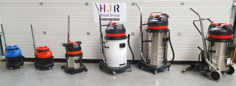 Water vacuum cleaners Budget Clean 15 L - 90 L, 1000 - 3000 W, direct from Importer